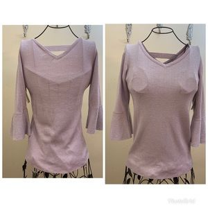 Bailey&Chloe Shimmer Long Sleeve Top Medium